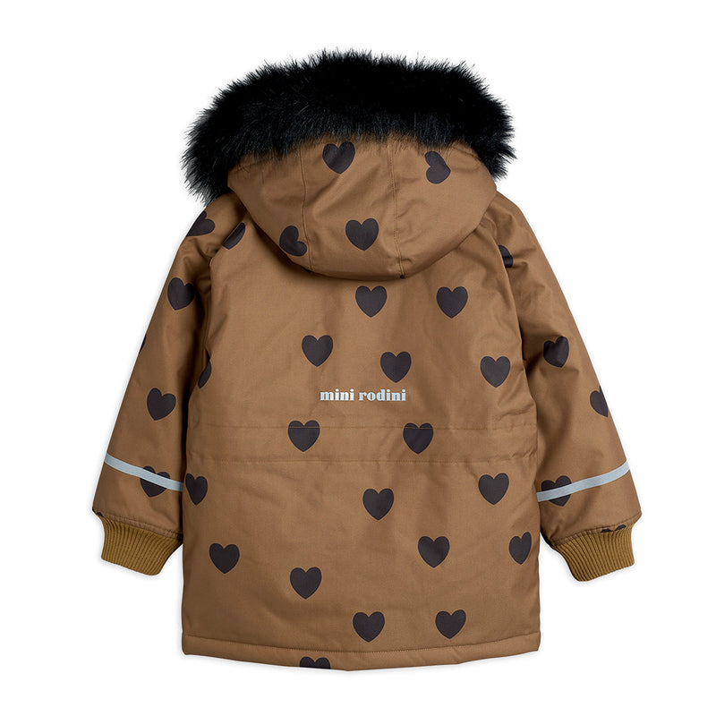 Mini Rodini K2 hearts talviparka, brown