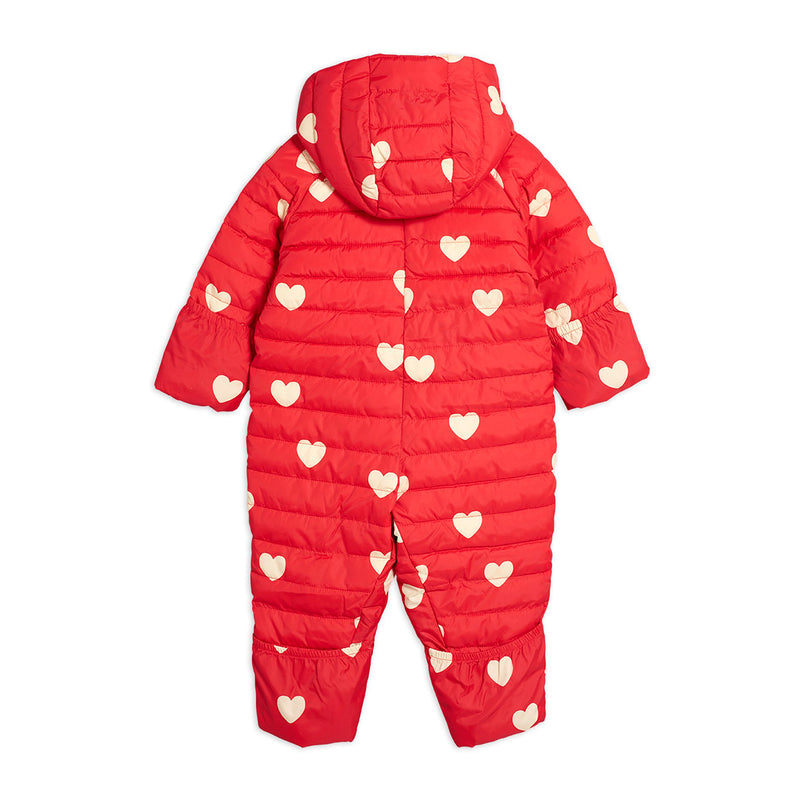 Mini Rodini hearts baby toppapuku, red