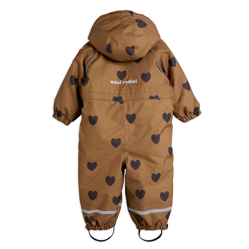 Mini Rodini alaska hearts baby talvihaalari, brown