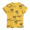 Mini Rodini mozart aop tee, yellow