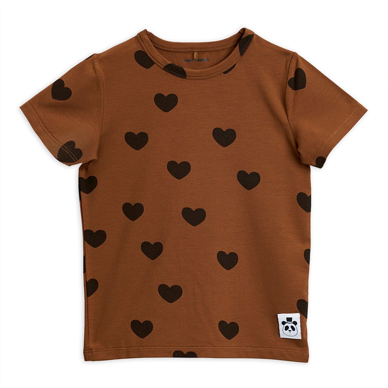 Mini Rodini hearts tee, brown