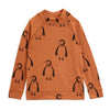Mini Rodini penguin wool paita, brown