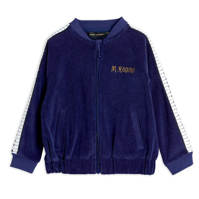 Mini Rodini piano terry bomber, navy