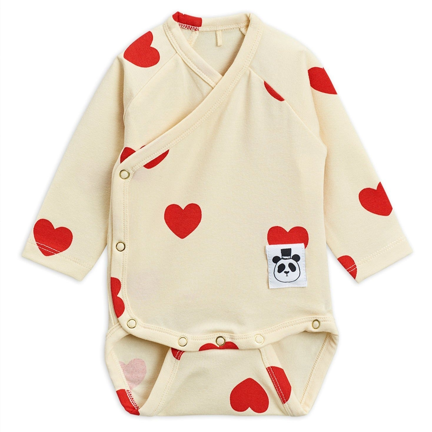 Mini Rodini hearts wrap body, off white