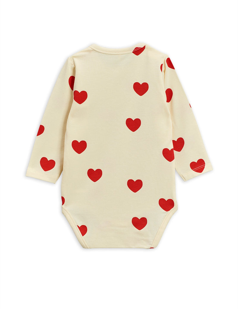 Mini Rodini hearts body, off white