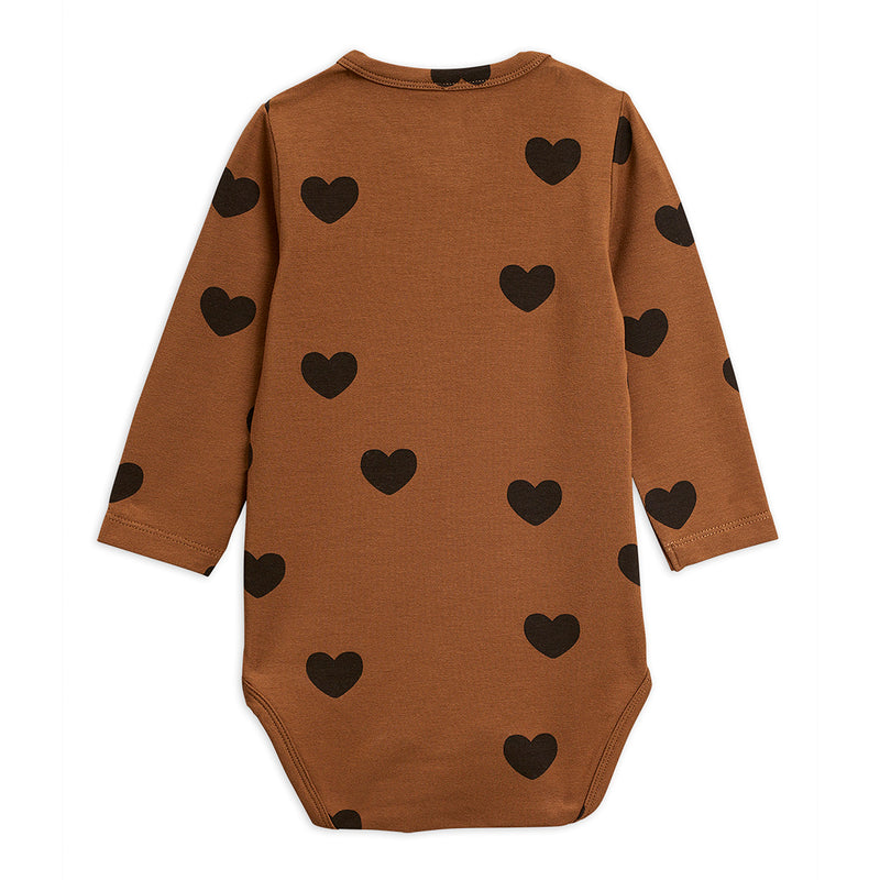 Mini Rodini hearts body, brown