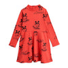 Mini Rodini mozart aop mekko, red