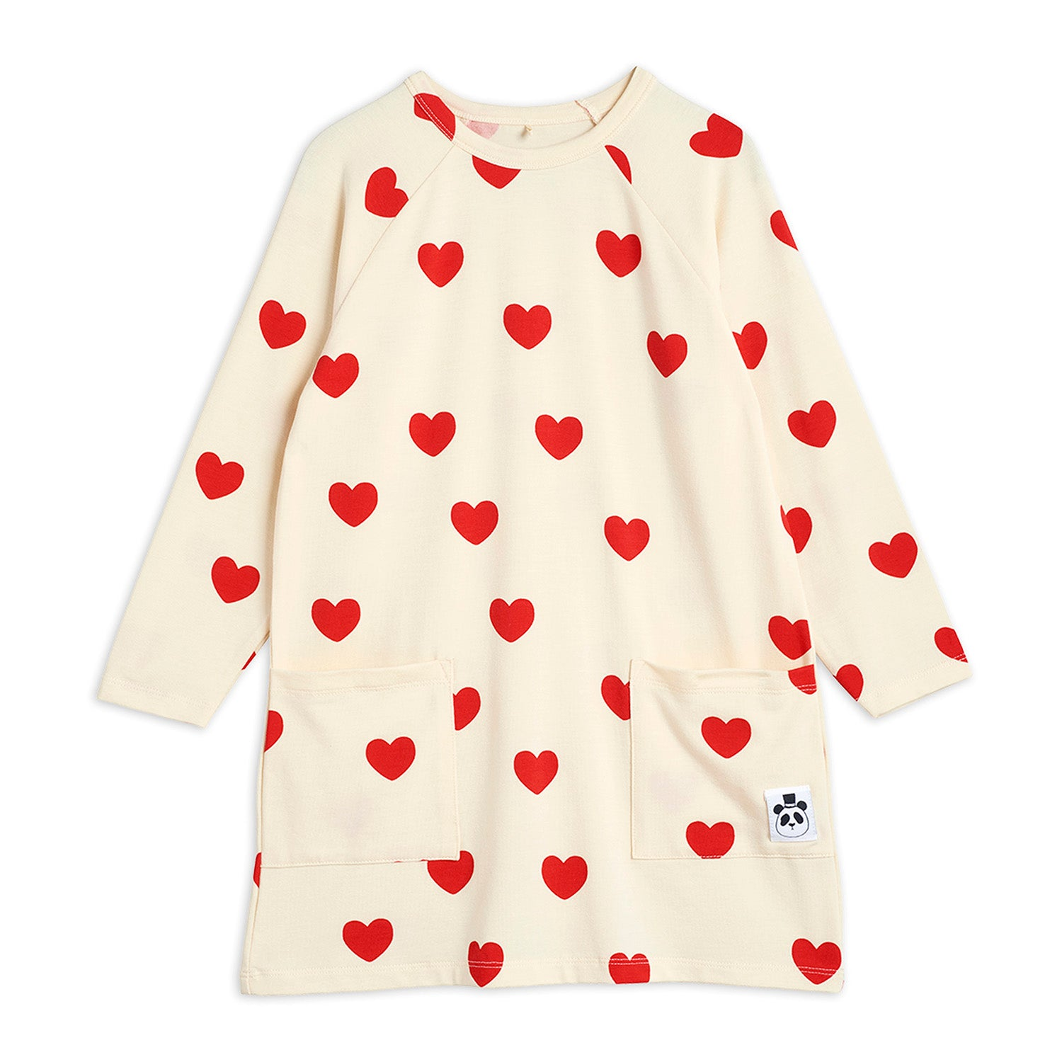 Mini Rodini hearts mekko, off white