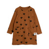 Mini Rodini hearts mekko, brown