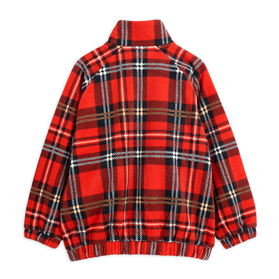 Mini Rodini check fleece takki, red