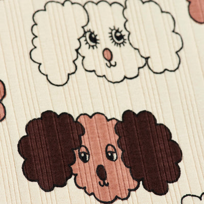 Mini Rodini fluffy dog leggarit, beige