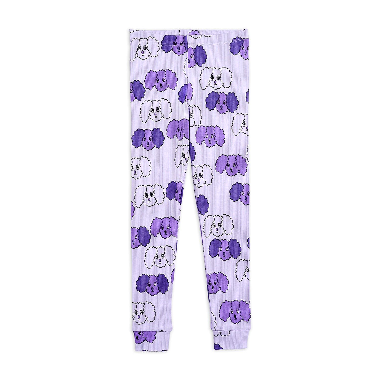 Mini Rodini fluffy dog leggarit, purple