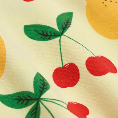 Mini Rodini cherry lemonade tee, yellow