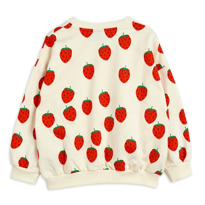 Mini Rodini strawberry aop svetari, offwhite