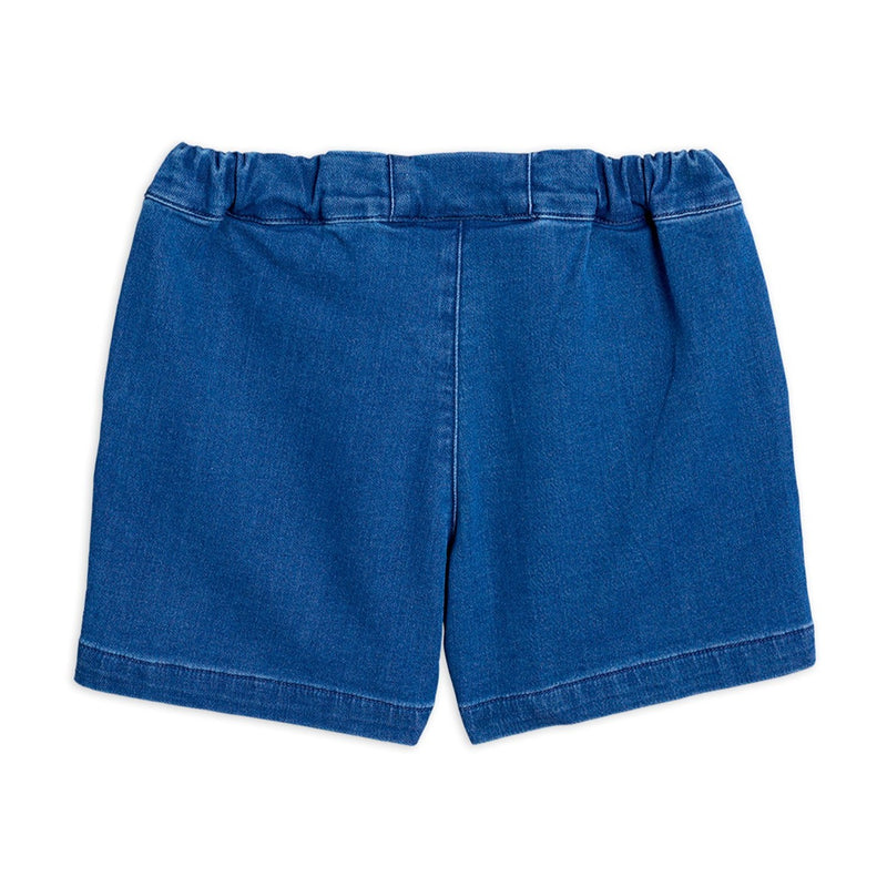 Mini Rodini denim strawberry shortsit, blue