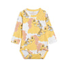 Mini Rodini unicorn noodles body, yellow