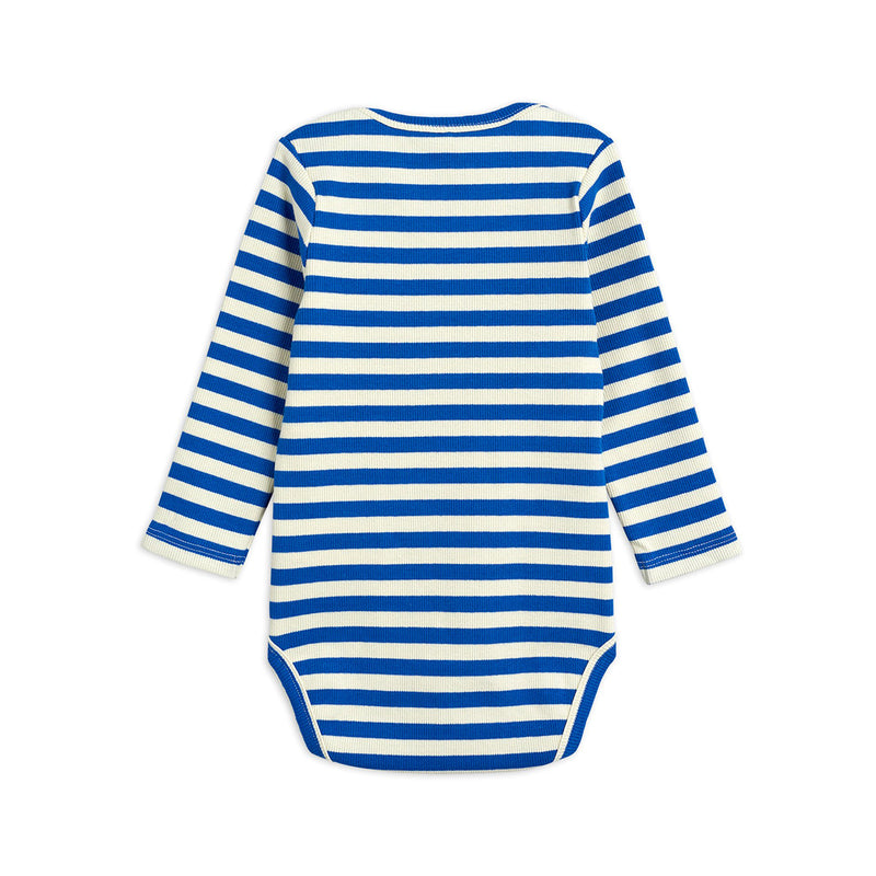 Mini Rodini stripe rib body, blue