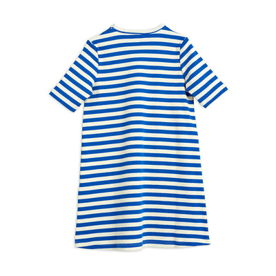 Mini Rodini stripe rib mekko, blue