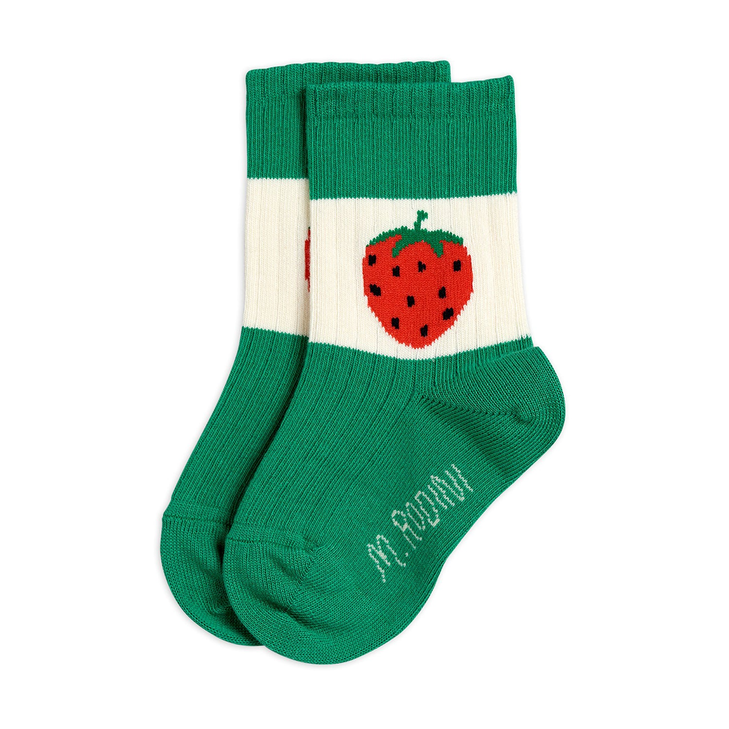 Mini Rodini strawberry ribbed sukat, green