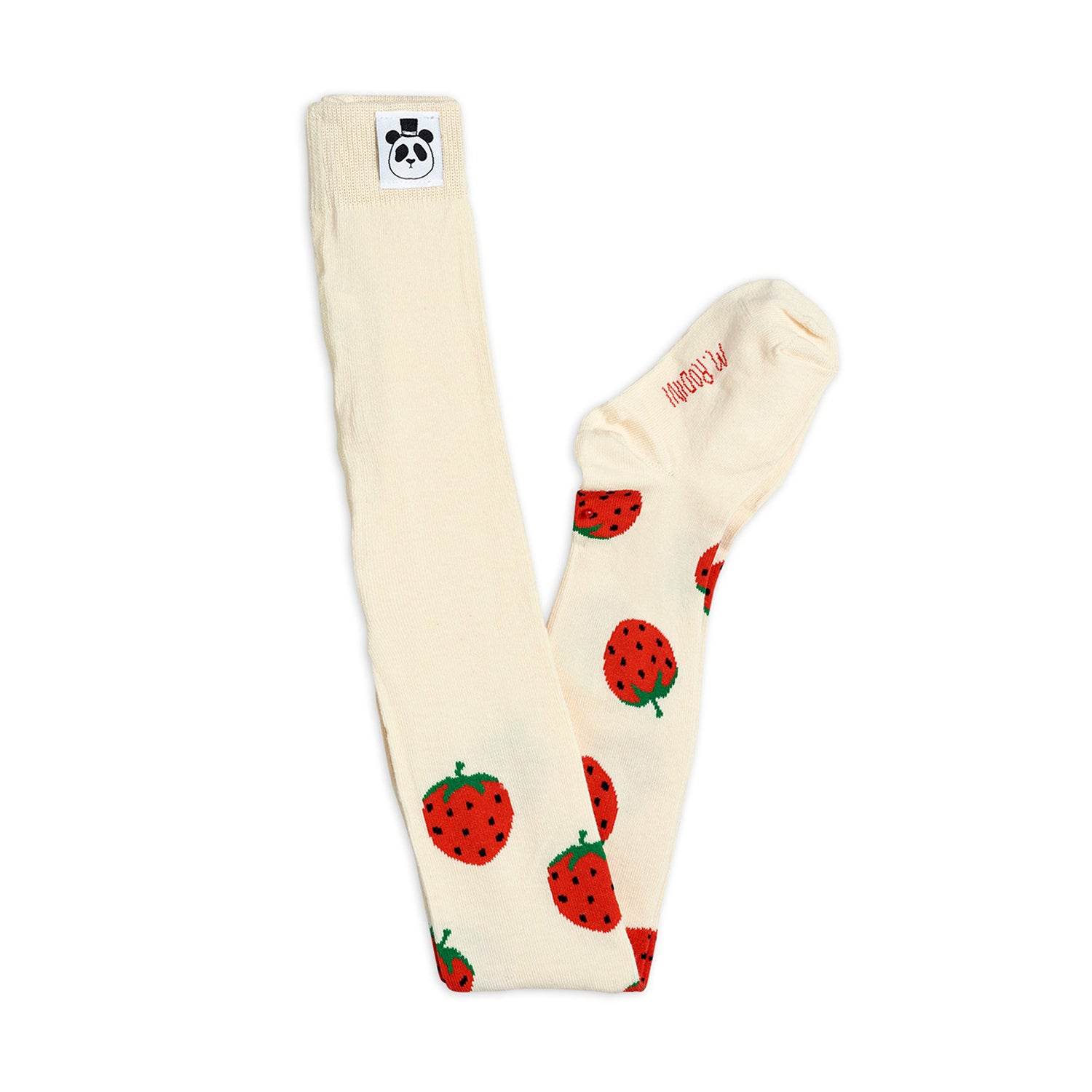 Mini Rodini strawberry sukkikset, offwhite