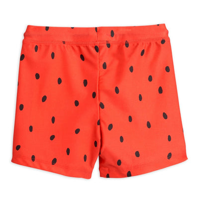 Mini Rodini strawberry uimahousut, red
