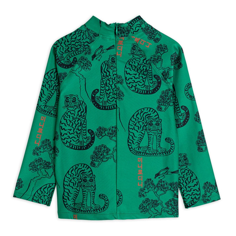 Mini Rodini tigers uv paita, green