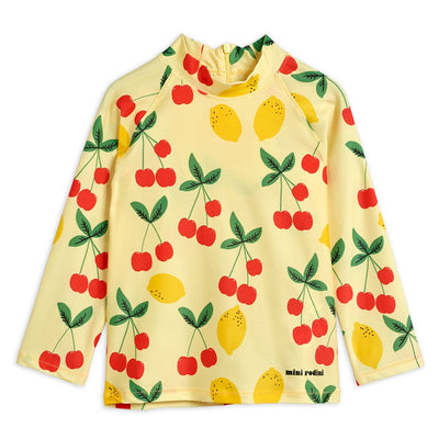 Mini Rodini cherry lemonade uv-paita, yellow