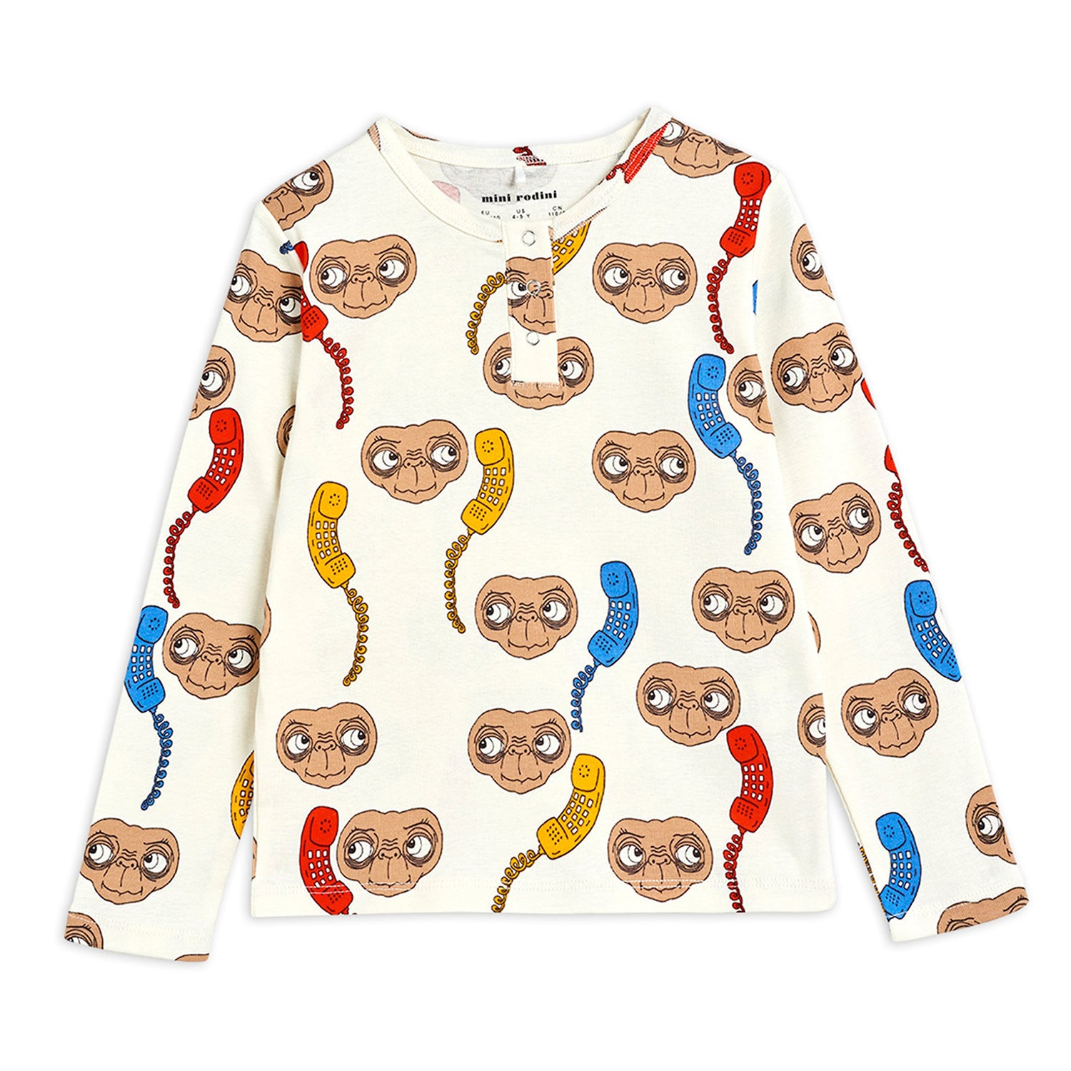 Mini Rodini E.T. grandpa paita, off white