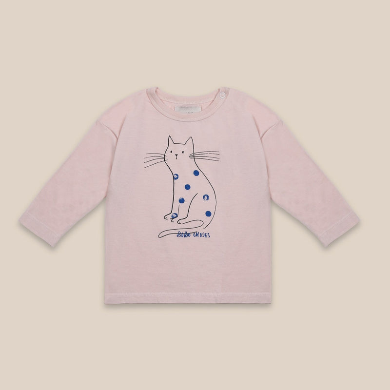 Bobo Choses cat baby paita, cream tan