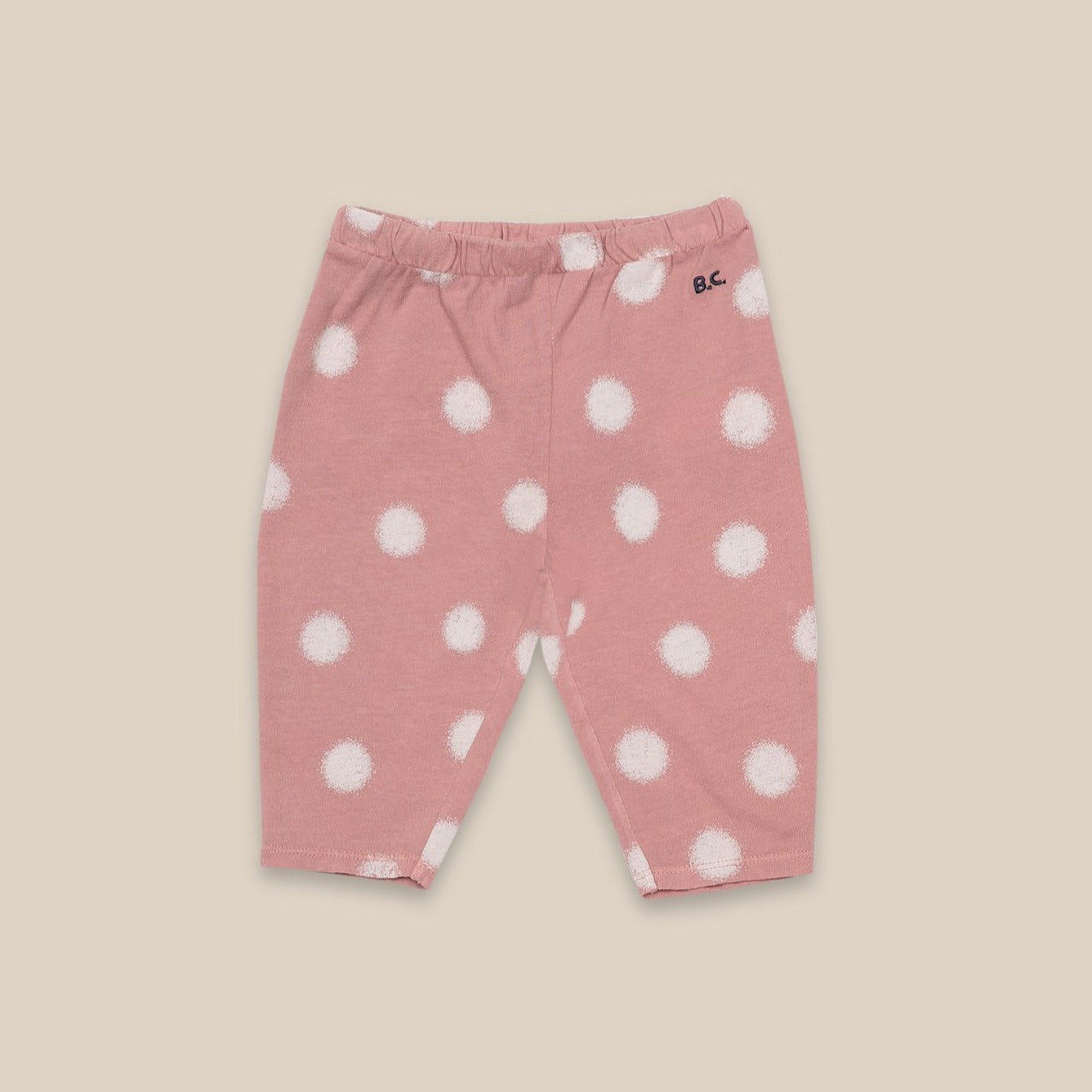 Bobo Choses spray dots baby leggarit, rose tan