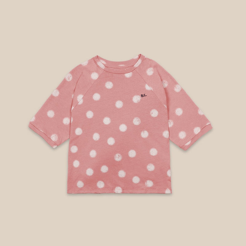 Bobo Choses spray dots tee, rose tan