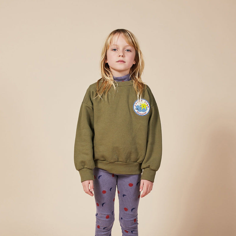 Bobo Choses lucky star patch svetari, olive branch