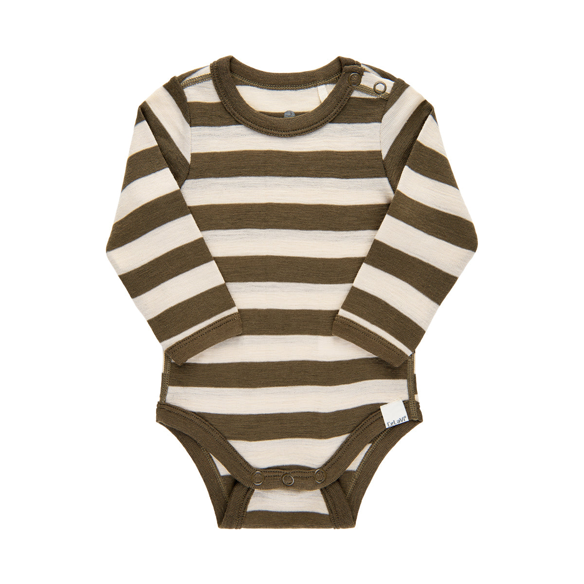 CeLaVi merinovilla stripes body, olive