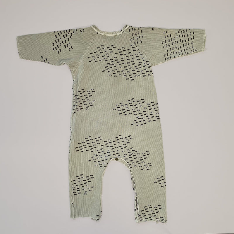 Re-wear : Bobo Choses birds kokopuku, green | 3-6kk