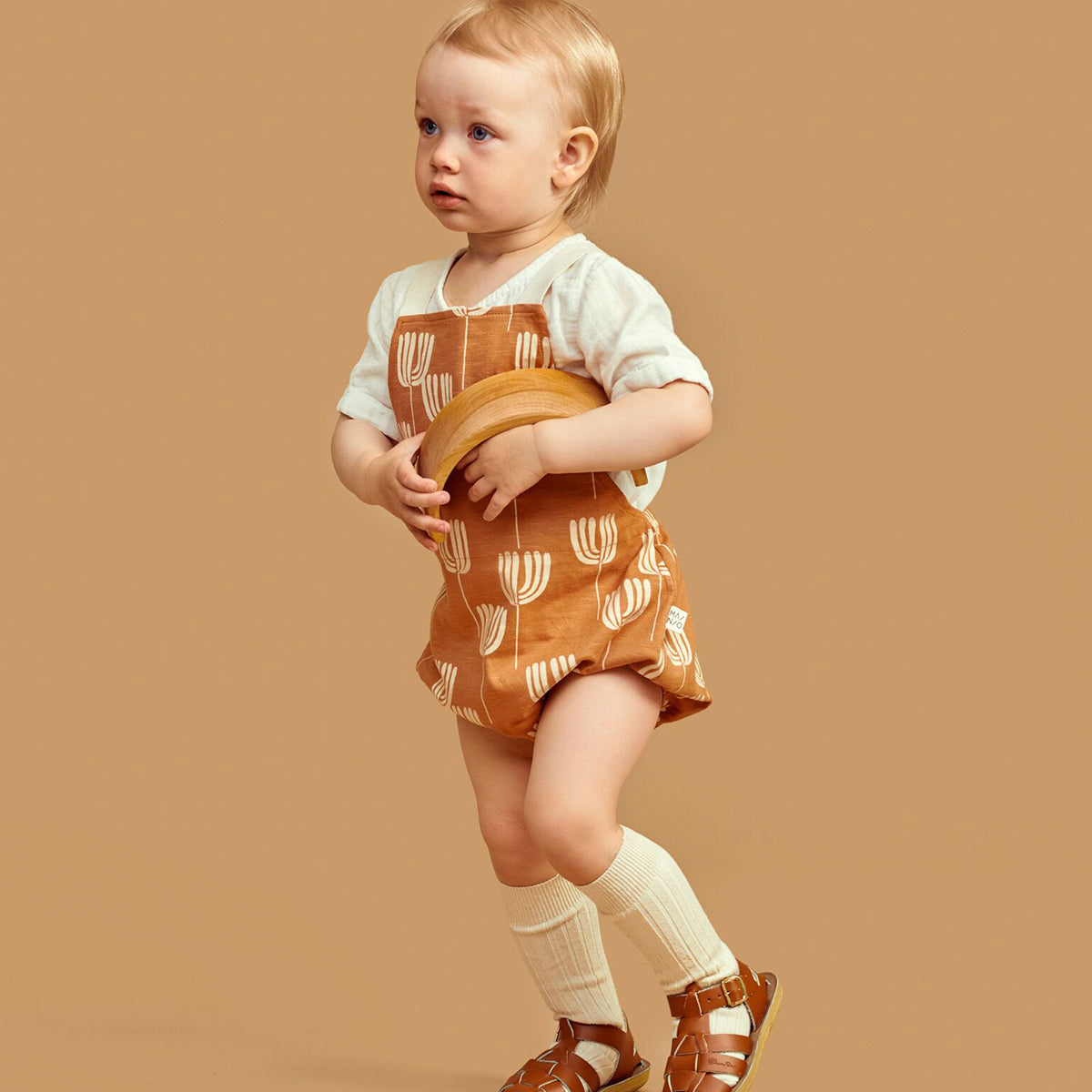 Mainio tulip romper, toasted nut