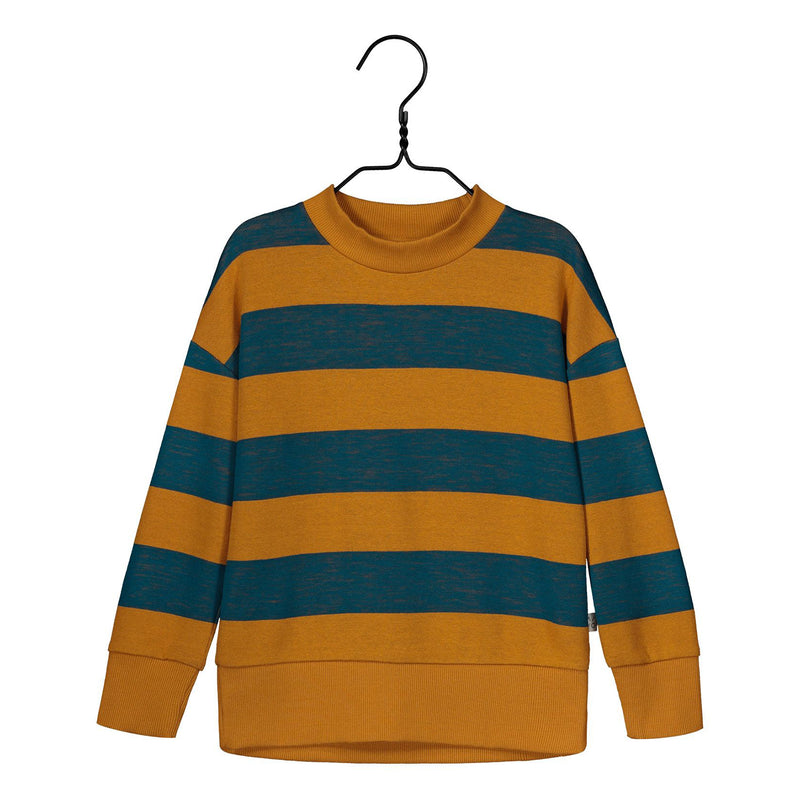 Mainio harvest knit paita, sudan brown/maroccon blue