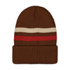 Mainio merinovilla stripes pipo, brown