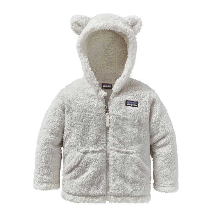 Patagonia baby furry friends huppari, birch white