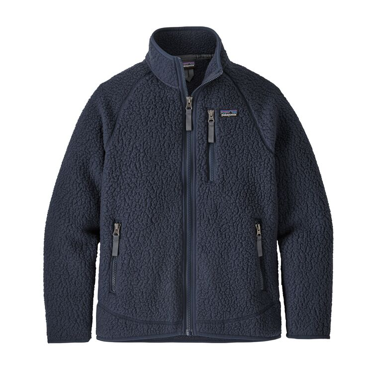 Patagonia boys' retro pile fleece, new navy