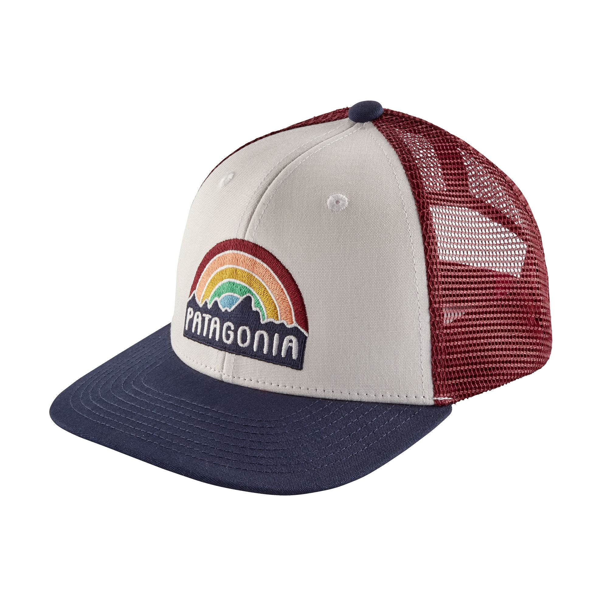 Patagonia kids' rainbow trucker lippis, white