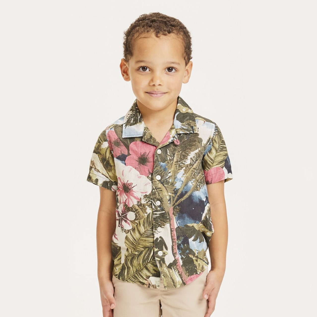 Knowledge Cotton hebe loose fit hawaii tee, forrest night