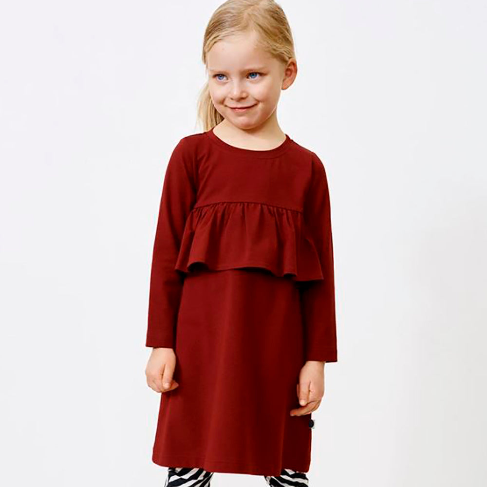 Papu wave mekko, deep red