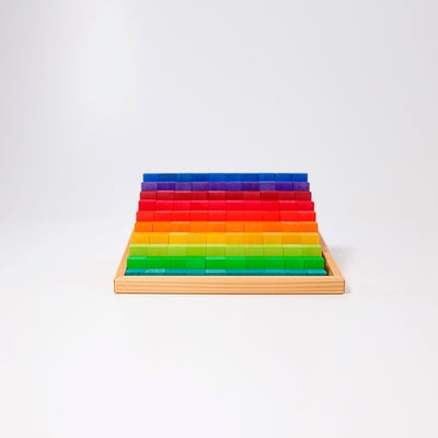 Grimm's small stepped counting blocks, rainbow