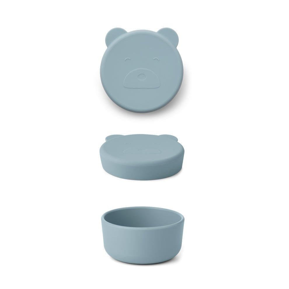 Liewood carrie mr bear snack box, sea blue
