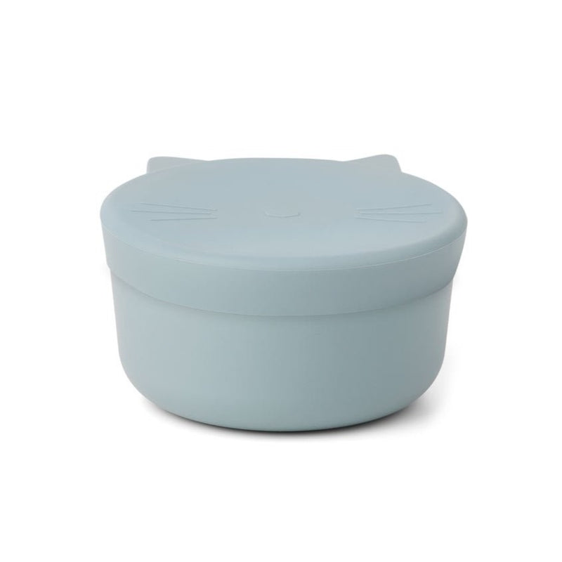 Liewood cornelius cat snack box, sea blue