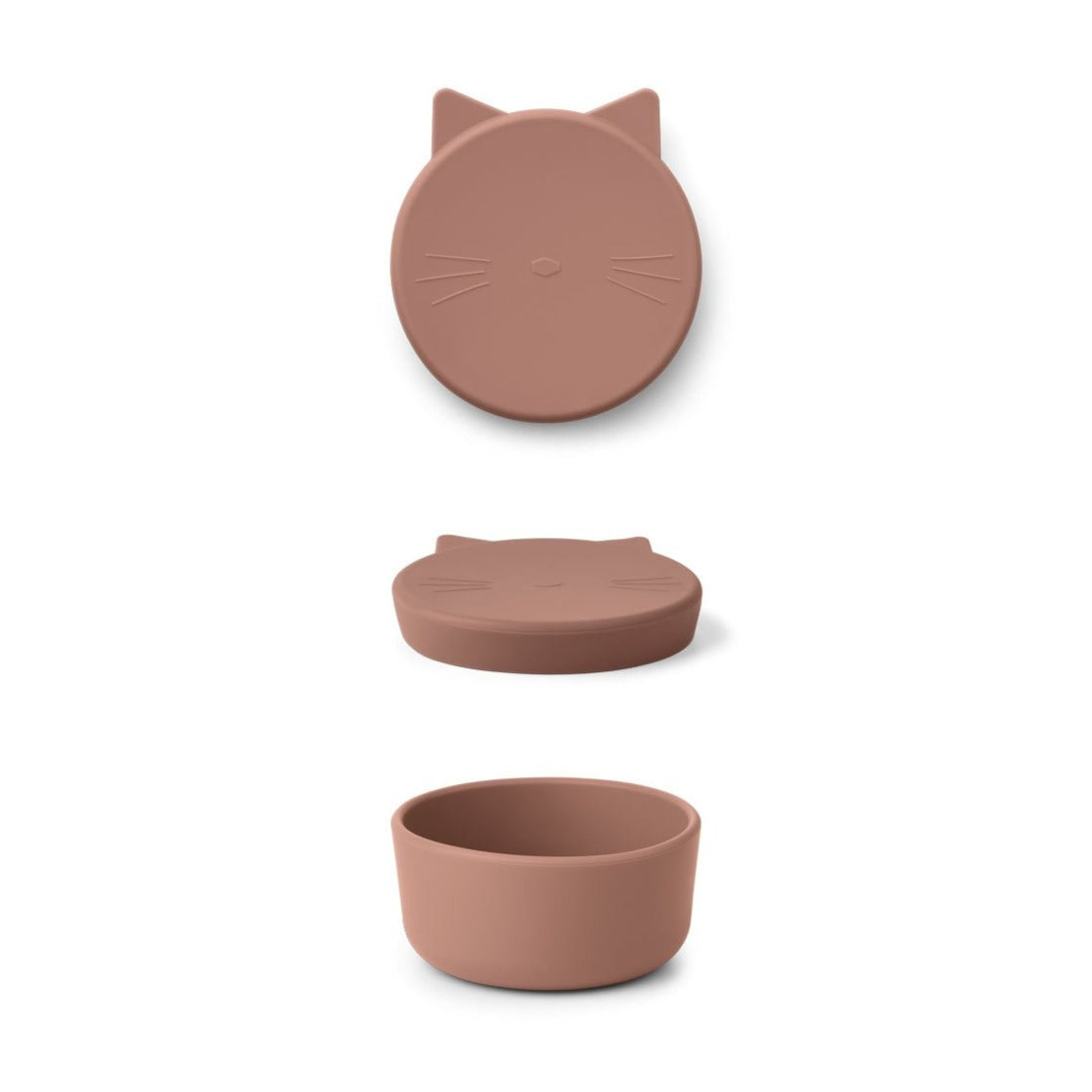 Liewood cornelius cat snack box, dark rose