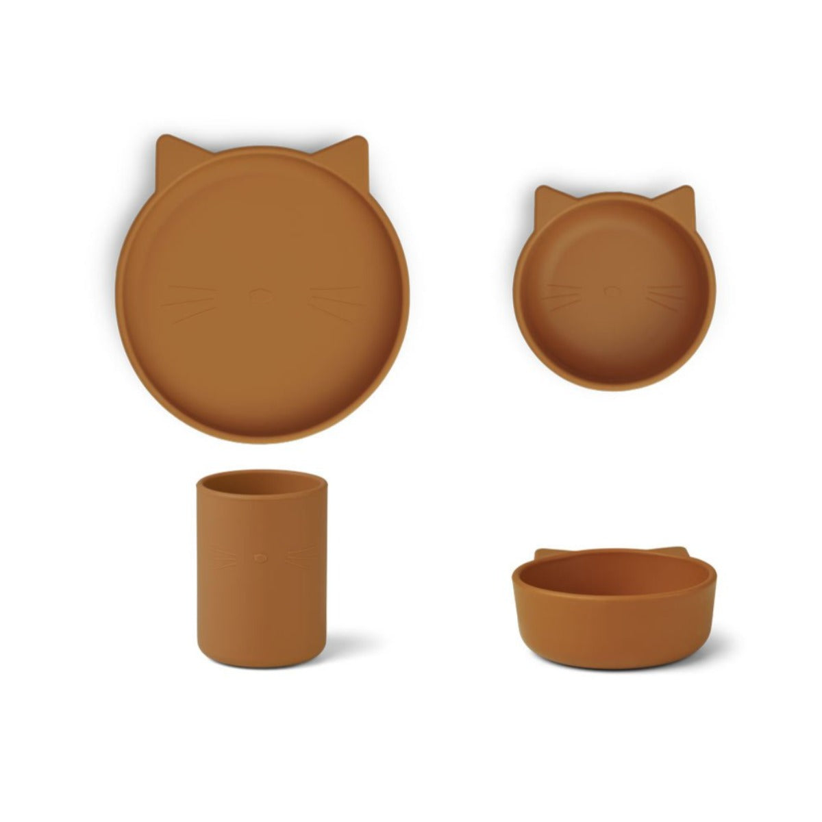 Liewood cyrus silicone junior set, cat mustard