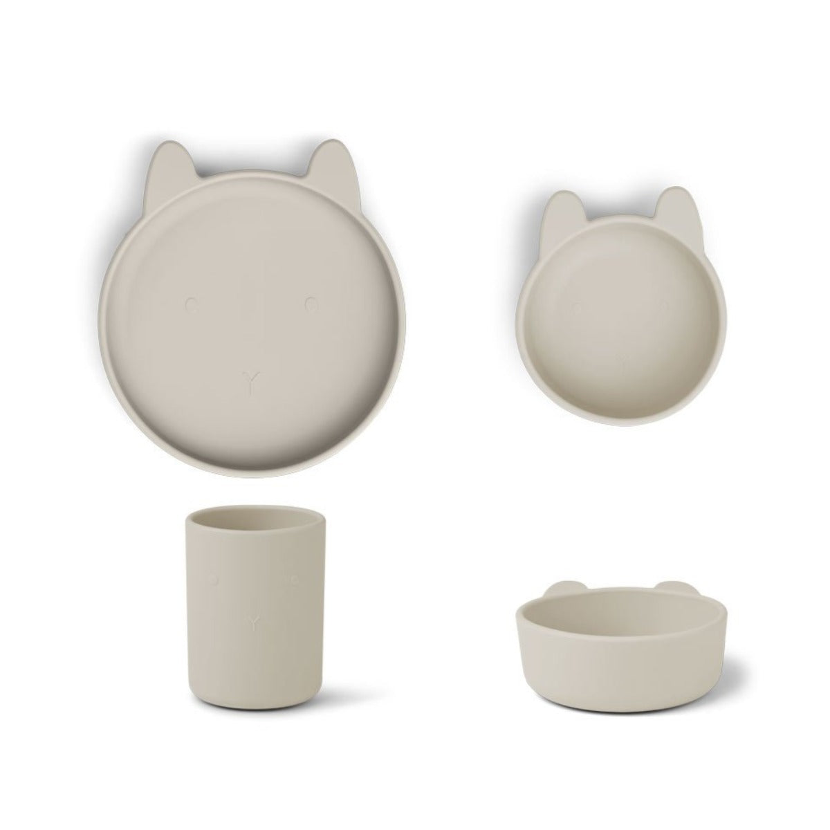 Liewood cyrus silicone junior set, rabbit sandy