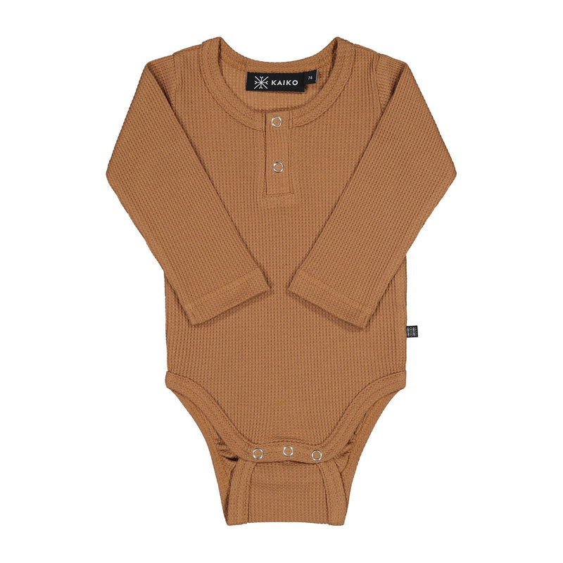 Kaiko henley body, toffee