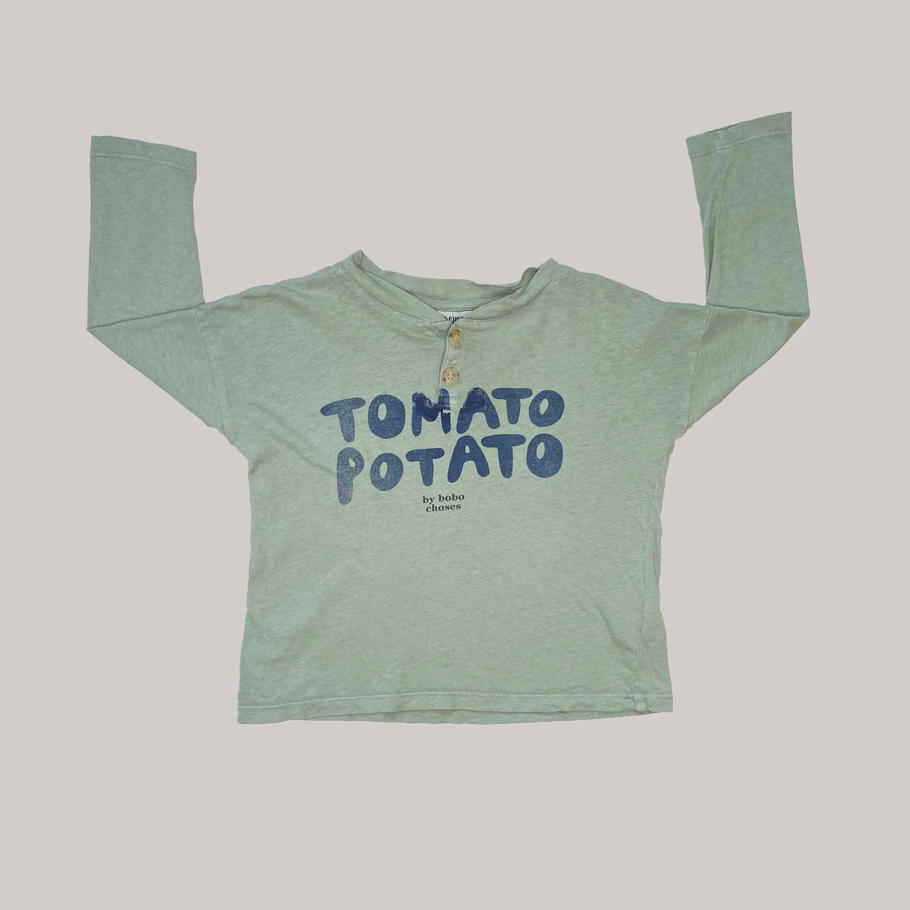 Re-wear : Bobo Choses tomato paita, green | 86cm